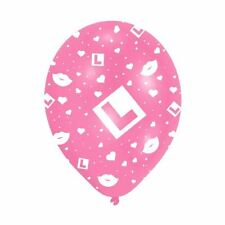 "6 x 11"" Pink Hen Night L-Plate Latex Hen Party Balloons Decorations"