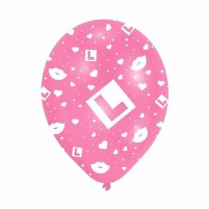 """6 x 11"""" Pink Hen Night L-Plate Latex Balloons Girls Events Balloons Decorations"""
