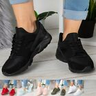 Ladies Trainers Womens Running Lace Up Flat Comfy Fitness Gym Sports Shoes Size