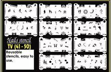Nail Art Airbrush Stencils (TV 41-50)