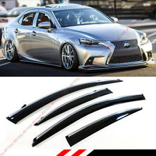 FOR 2014-19 LEXUS IS250 IS350 IS200T VIP STYLE CLIP ON SMOKE TINTED WINDOW VISOR