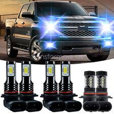 For Chevy Silverado 1500 2500 HD 2003-2005 2006 LED Headlights Fog Lights 8000K