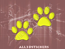 3D Sticker Decal Resin Domed Paws Adhesive Decal  Yellow