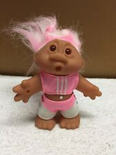 Troll Aerobic Girl 5 Inch Doll With Pink/White Hair