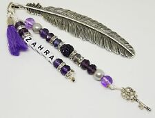 High Quality Personalized Handmade Feather/ Bead Bookmark Page Marker