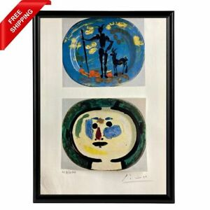 Pablo Picasso - Decorated Plates Faun, Original Hand Signed Print with COA