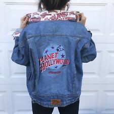 Vintage Planet Hollywood Denim Jacket New York Vtg 80s 90s Xl