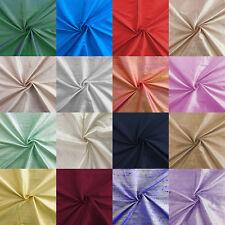 "Pure 100% Indian Silk Fabric Dupion Slub Silk Handloom Colour Shot 44"" Wide"