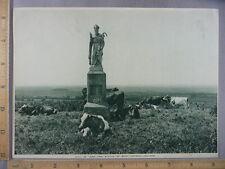 Rare Antique Orig VTG Hill Of Tara Statue Of St Patrick Photogravure Art Print