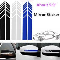 DIY Auto Dekorative Rückspiegel Aufkleber Vinyl Racing Streifen Decals New