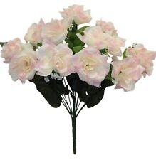 72 Open Roses Cream Pink Long Stem Wedding Bouquets Centerpieces Silk Flowers