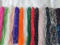 Joblot of 34 strings mixed colour 6 mm bicone shape Crystal beads new wholesale