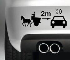 HORSE AND CART GAP FUNNY CAR BUMPER STICKER DRIFT VINYL DECAL GRAPHIC