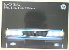 rare  catalogue Lancia Dedra - France - IX/89 - 8p