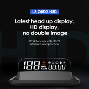 5 inch L3 OBD2 HUD Multifunctional Car SUV Head Up Display with Reflection Board