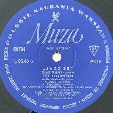 WANDA WARSKA & TRIO ANDRZEJA KURYLEWICZA - JAZZ 58  vinyl Polish Jazz
