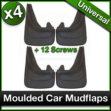MOULDED Car MUDFLAPS Contour Mud Flaps Universal VW FOX GOLF JETTA UP Fitted x4