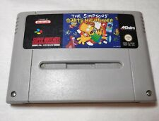 The Simpsons Bart's Nightmare Nintendo SNES UK Cartridge Only