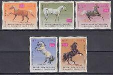 Yemen Kgr 1967 ** Mi.429/33 A Pferde Horses