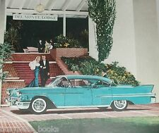1958 Cadillac advertisement, CADILLAC DE VILLE sedan at the Del Monte Lodge