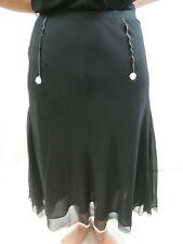 Moss & Spy Size 10 Black Silk Bell Skirt