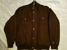 Sean John Men's Winter Jacket Brown XXL Bomber COAT