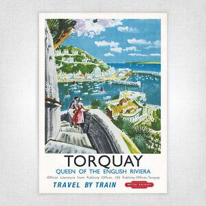 Vintage railway poster - A4 - Torquay