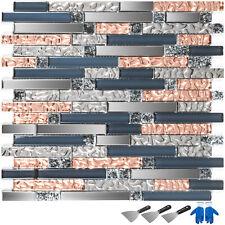 Mosaic Tile Glass Backsplash Tile Kitchen Wall Tile With Shovels Gloves 12pcs