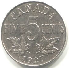 1927 CANADA 5 CENTS Coin