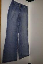 ZOOMP Casual Chic Medium Blue Denim Low-Rise Wide Leg JEANS Sz 44