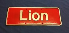 British Rail English Electric Class50 Lion 50027 Name Plate Replica