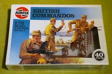MODEL KIT AIRFIX 1/72 SCALE SERIES 1 MODEL FIGURES BRITISH COMMANDOS 01732