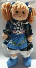 More details for bigjigs toys 'katie' rag doll cuddly toy - 34cm