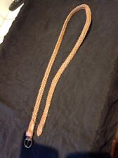 Brown Faux Leather Woven Belt Approx 95cm X 1.5 cm