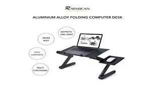 Laptop Portable Desk Adjustable Ergonomic Aluminum Table, Couch, Bed Stand Desk