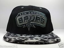 da0c0b63cea80 San Antonio Spurs Mitchell   Ness Aztec Mesa 2T 2 Tone Strap Back Hat NBA
