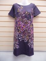 Kaleidoscope Ladies Dress Purple Size 10 Multicoloured Floral Print  BNWT G011