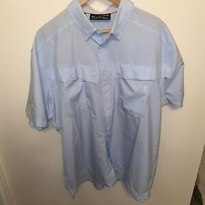 NWT $49 Mens Under Armour UA Short Sleeve Vented Fishing Button Shirt : Size 2XL