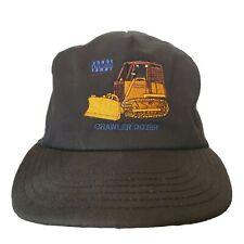 Vintage Case Crawler Dozer Hat Black Baseball Cap Made USA