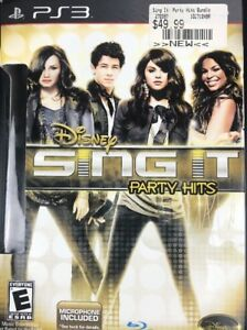 NEW Disney Sing It Party Hits 2011 Comes with Microphone PS3 New