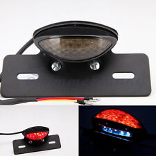 UNIVERSAL MOTORCYCLE BRAKE LISENCE PLATE MOUNT REAR TAIL LIGHT LED SMOKE