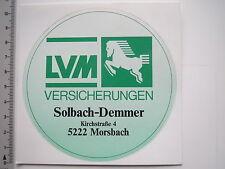 Aufkleber Sticker LVM - Versicherung - Solbach-Demmer (6896)