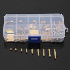 270pcs PCB M2 Female Threaded Brass Spacer Standoffs Screw Nut Assortment Set