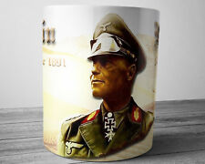 WW2 GERMAN WW2 3rd Reich Hero Erwin Rommel DESERT FOX 11 oz Collectible Mug