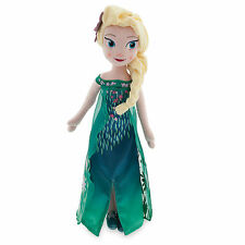 "NEW Disney Store Authentic Queen Elsa Soft Plush Doll Frozen Fever NWT 19"" - 20"""