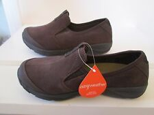 NWB New Easy Sririt Explore 24 Brown Suede Water Repellent Casual Shoes Women 8W