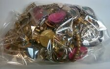 Mixed Jewelry Wear,  Craft or Repair Vintage watch parts etc 3.16 lbs