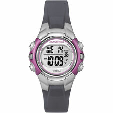 Ladies Timex Marathon Indiglo Digital Alarm Black Rubber Sports Watch T5K646