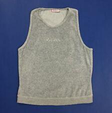 Max co tricot maglia canotta donna top usato L canott t-shirt grigio T4126