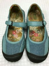 Keen Women's Size 6.5 Blue Leather/Canvas Mary Janes